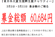 ★☆東日本大震災チャリティー募金★☆