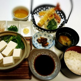日光産大豆の湯豆腐御膳