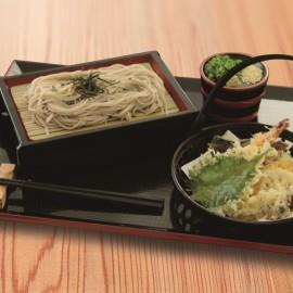 秋の天ぷらそば(うどん)小鉢、ドリンク、デザート付き