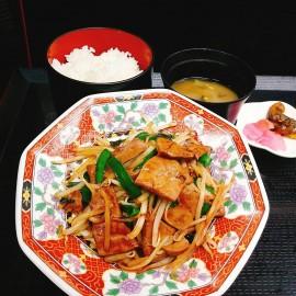 スタミナレバニラ炒め定食